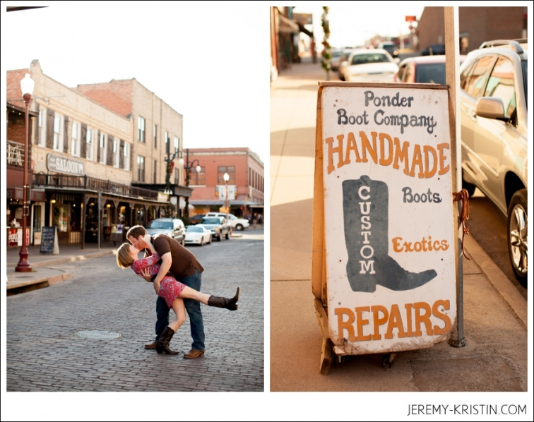 Fort Worth Stockyards Engagement Session by Fort Worth Wedding Photographers Jeremy and Kristin