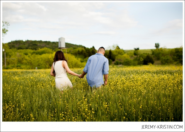 Dallas Field Engagement Session Photo