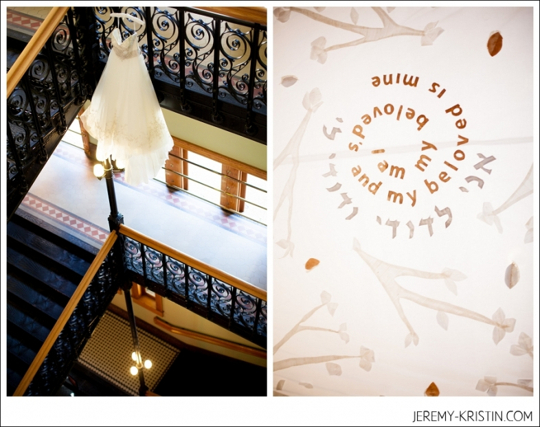 Old Red Court House stairs Wedding  Photo
