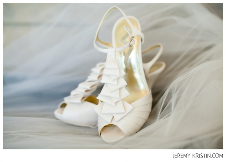 White Wedding Shoes at Christ Chapel Fort Worth Wedding photo