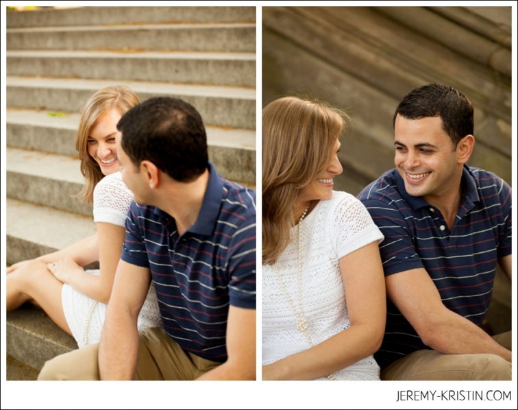 engagement session in Central park photo