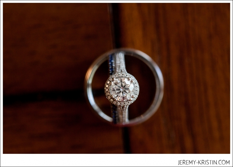 round vintage ring shot at Delaney Vineyards Wedding Photo