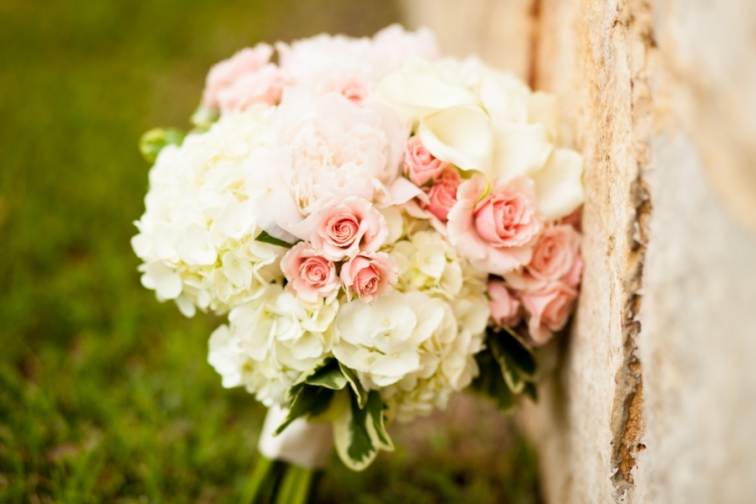 Pink and White Elegant Wedding Bouquet