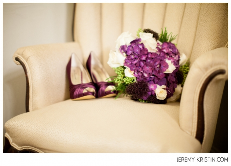 Aristide Wedding vintage Bridal purple wedding shoes purple wedding bouquet photo