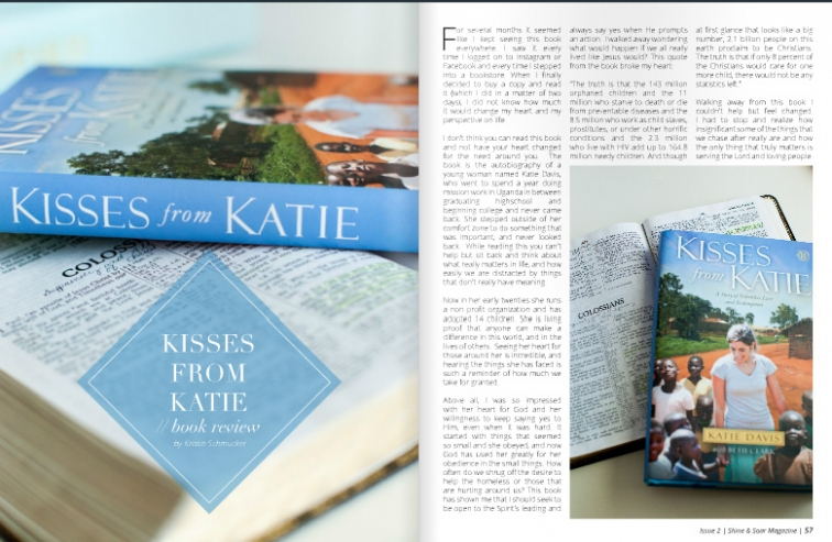 Kisses From Katie Review for Shine and Soar Magazine